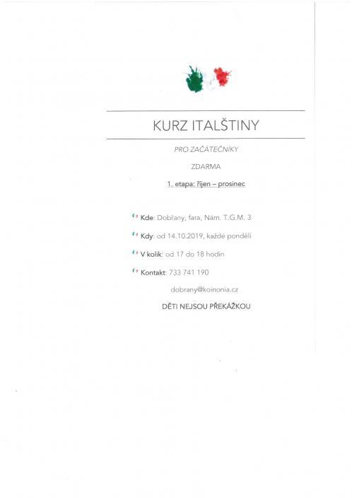 jazykové kurzy, italština