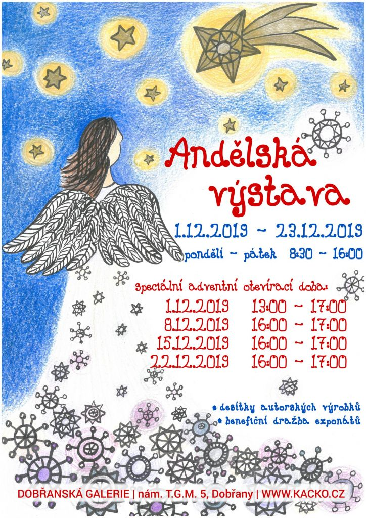výstava, andělé